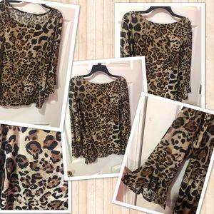 Tops - Cheetah print blouse